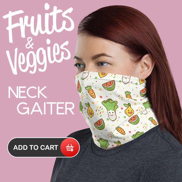 Fruits-and-Veggies-Neck-Gaiter-Face-Mask