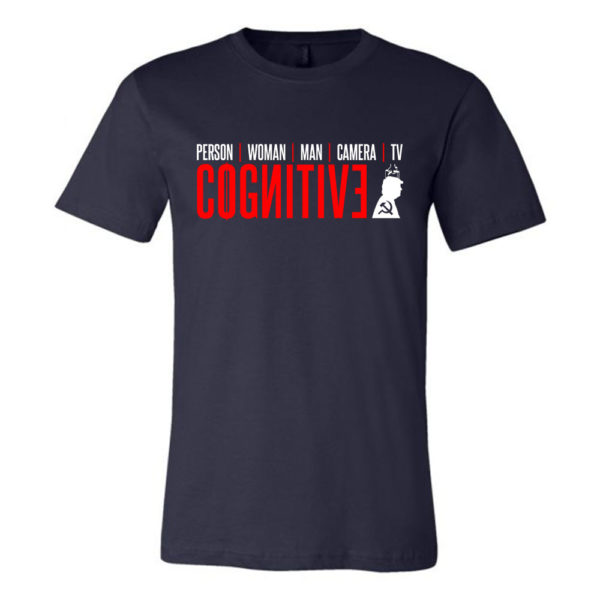 Cognitive Test Trump T shirt Person Woman Man Camera TV