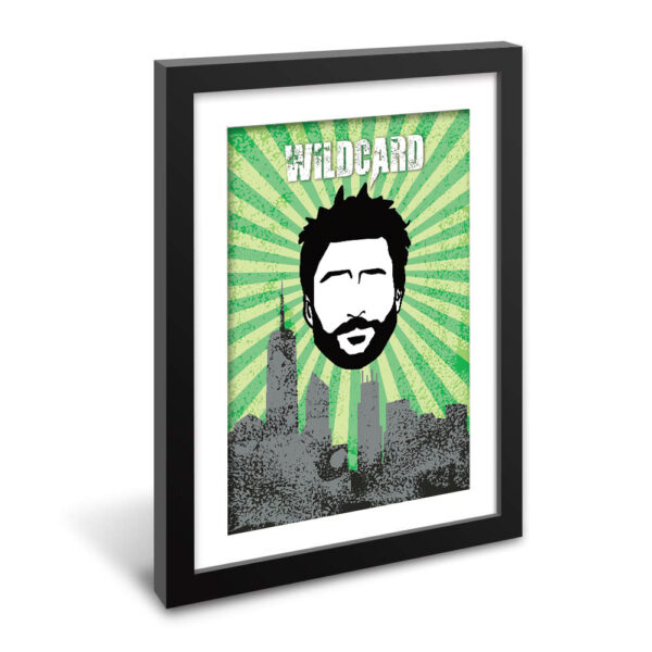 "Wildcard Charlie from It's Always Sunny Fan Art Framed Poster 16"" x 24"" ready to hang!"